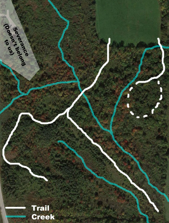 Map of the trails on our property