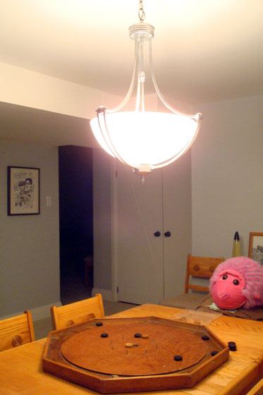 Basement chandelier