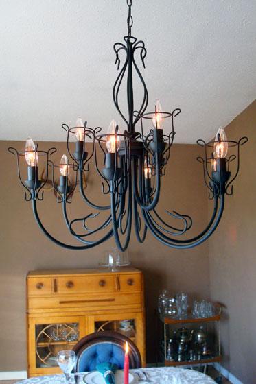 Industrial rustic chandelier