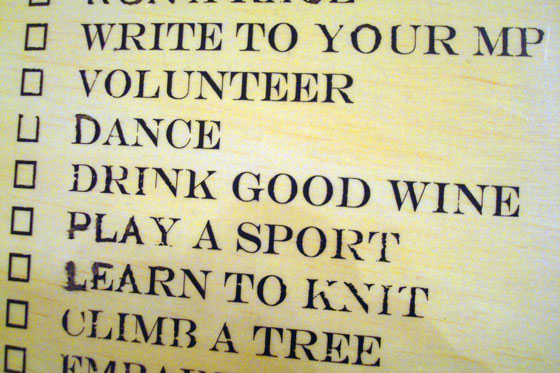 Life lessons wood plaque