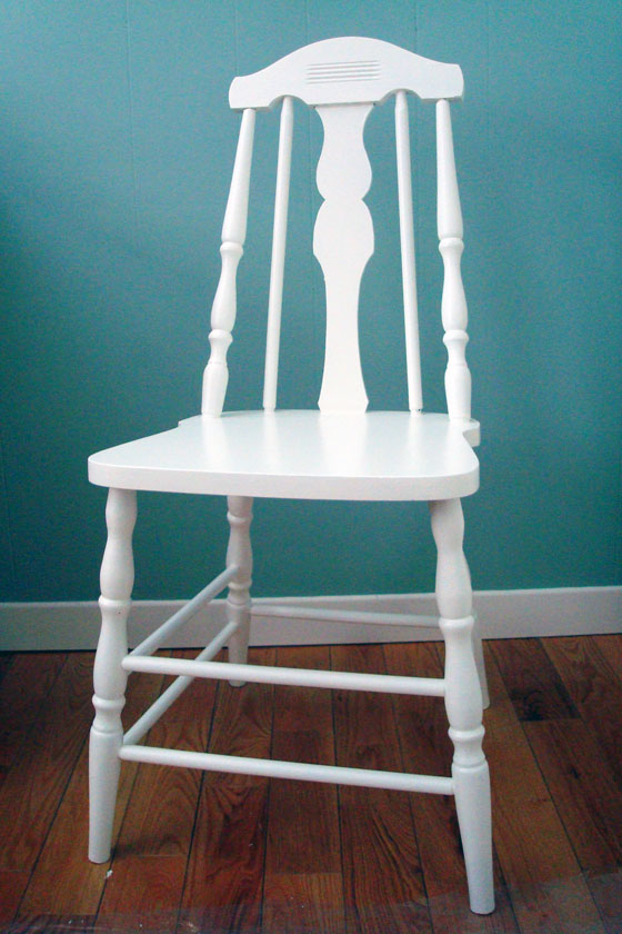 White painted wooden chair