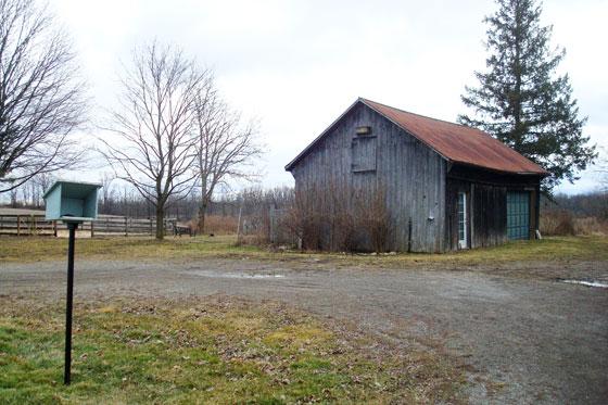 Farm after snowmelt