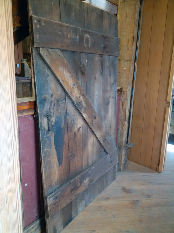 Salvaged barn door