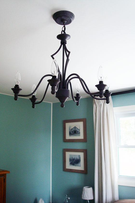 Rustic black chandelier