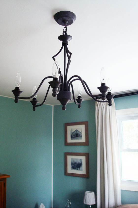 Rustic black chandelier