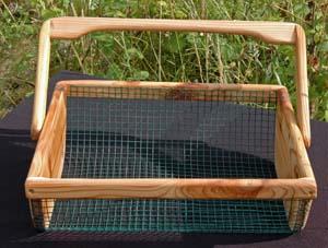 Wooden vegetable harvest basket