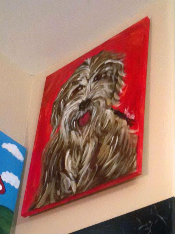 Shaggy dog painting