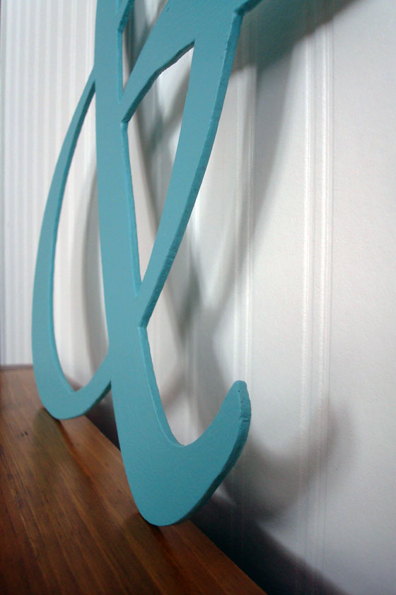 Ampersand monogram made out of hardboard