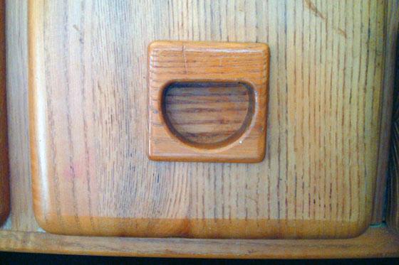 Recessed wood pulls