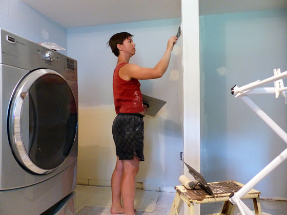 Drywalling the laundry room