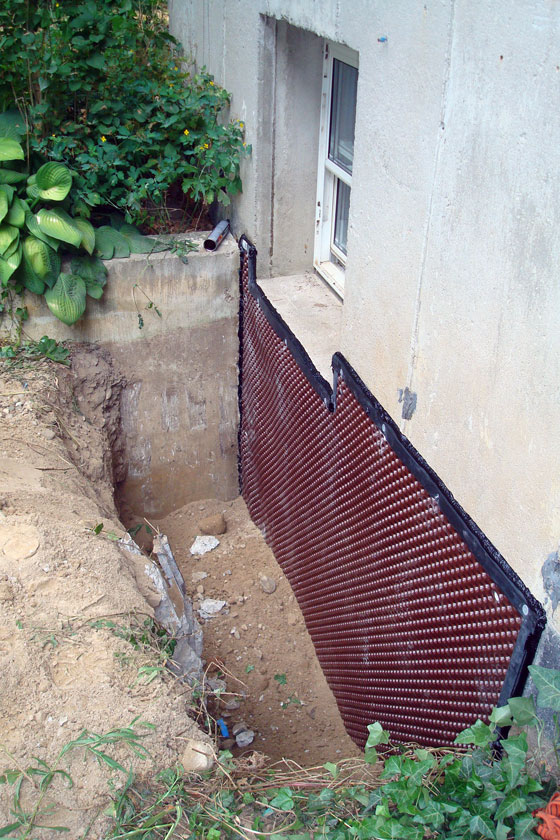 Waterproofing a basement foundation from the outside