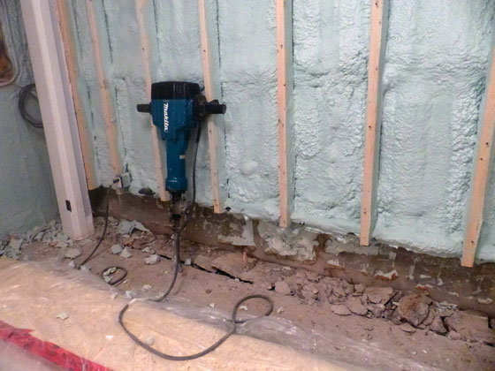 Waterproofing a basement foundation from the inside