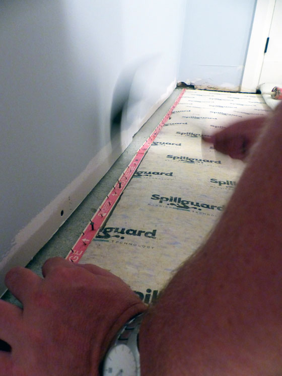 Installing carpet tack strip