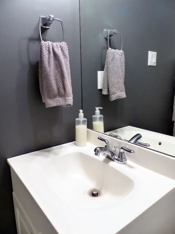 Small bathroom sink and vanity