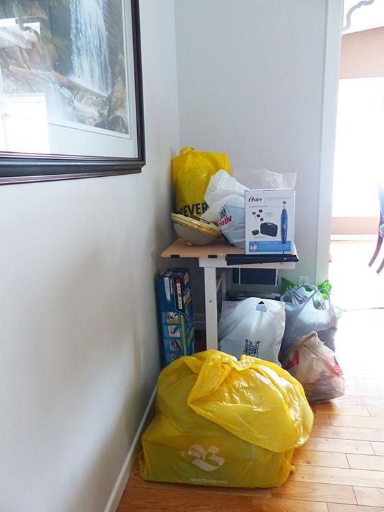Donation pile