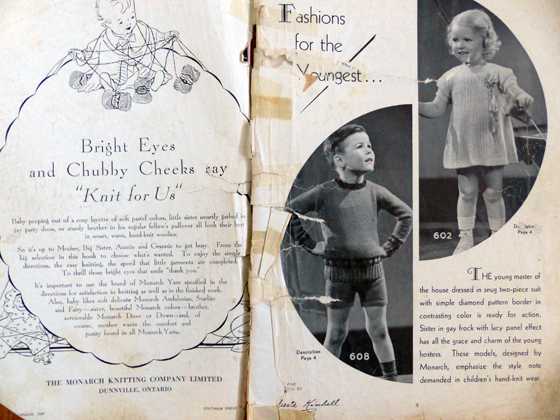 Vintage knitting patterns from the 1930s