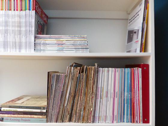 Magazine and knitting pattern storage