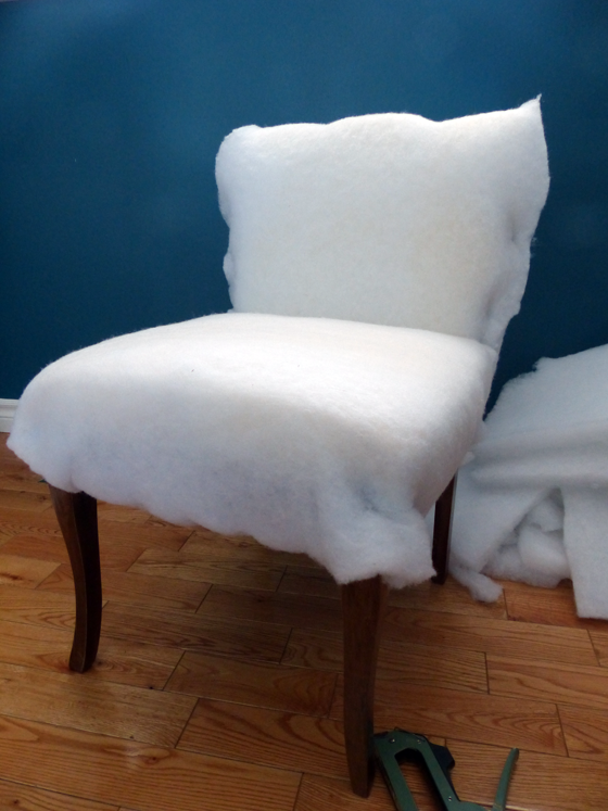 Reupholstering a slipper chair