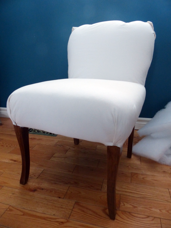 Reupholstering a slipper chair