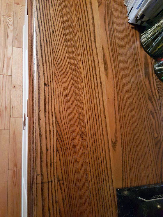 Scratches on the refinished china cabinet top