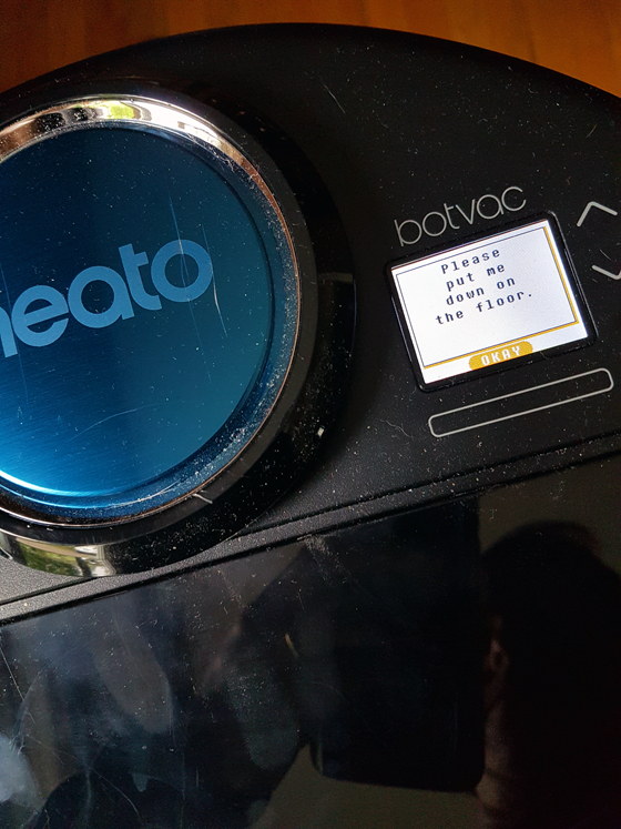 Neato D80 display screen