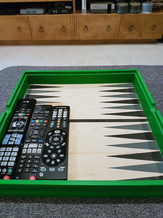 Backgammon board tray