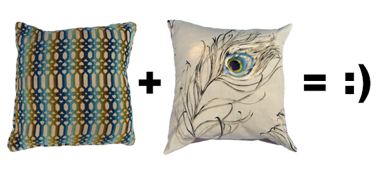 How to mix and match throw pillows