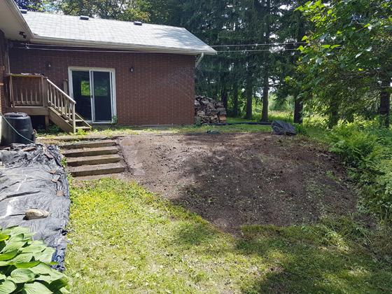 Seeding the backyard