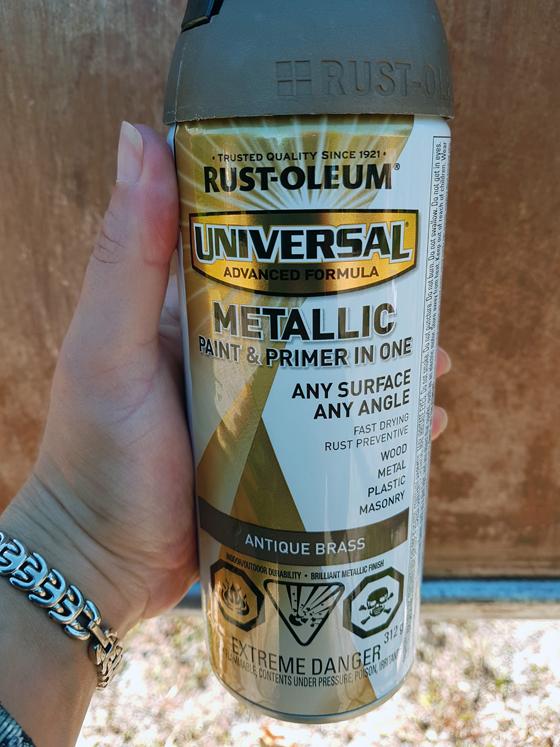 Rustoleum Antique Brass spraypaint