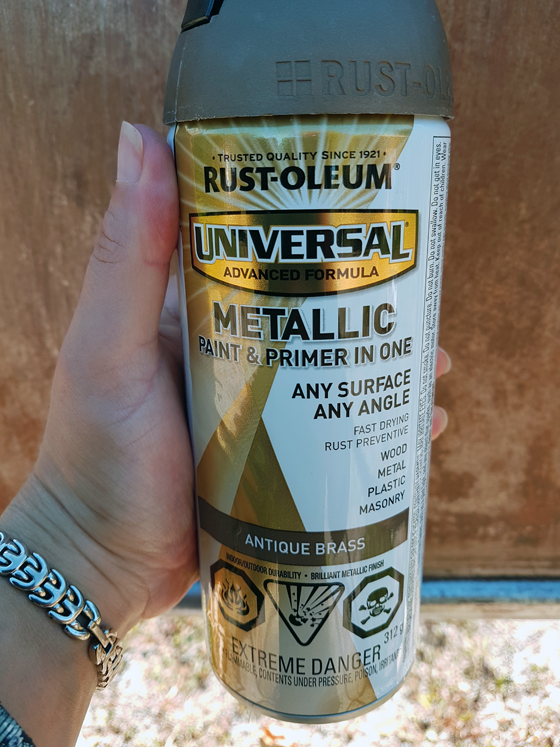 Rustoleum Antique Brass spraypaint