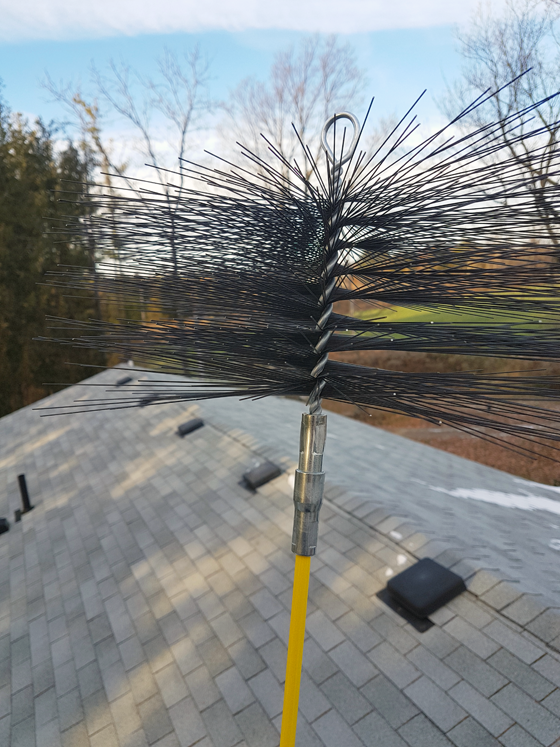 Chimney cleaning brush