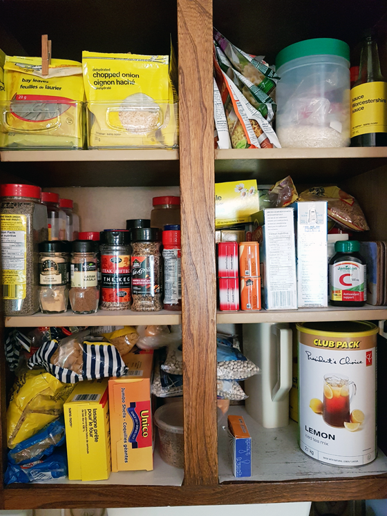 Better organized spice cabinet