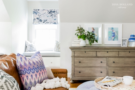 Grey dresser in a room designed by Dina Holland Interiors