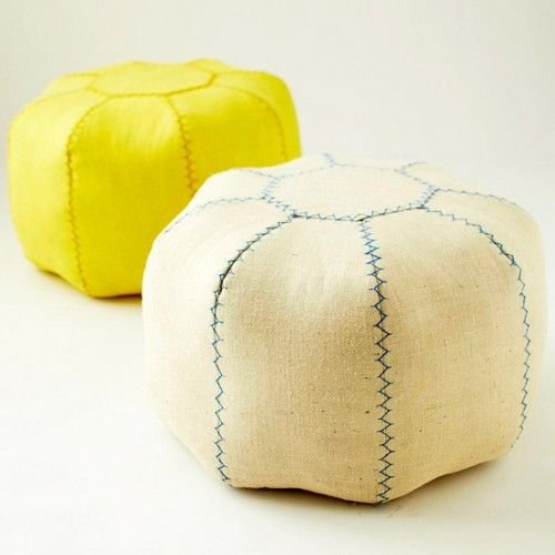 Free DIY pouf sewing pattern from BHG