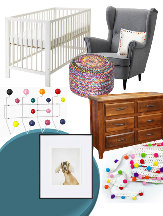 Colourful Nursery Moodboard