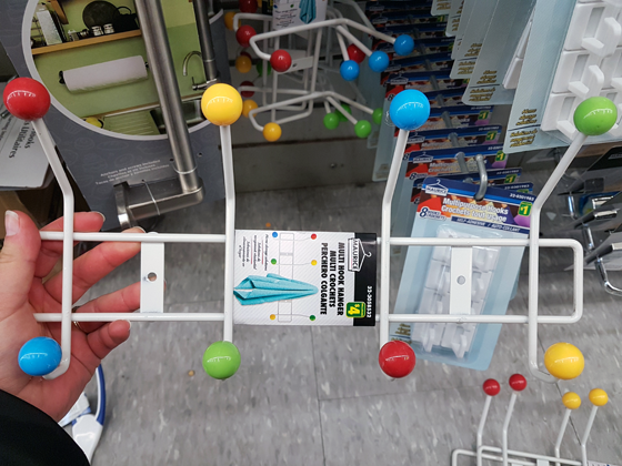 Dollarstore knock off Eames Hang It All