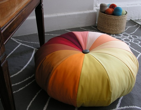 Pinwheel pouf from Design Sponge
