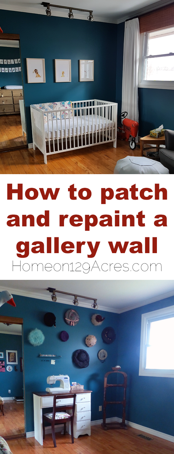 How to patch and repaint a gallery wall