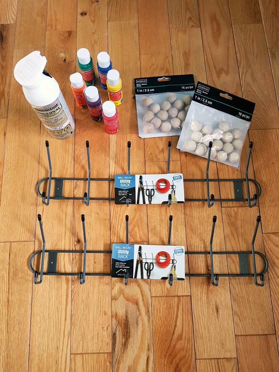 Materials to make your own Eames Hang-It-All