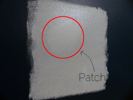 Priming drywall patches