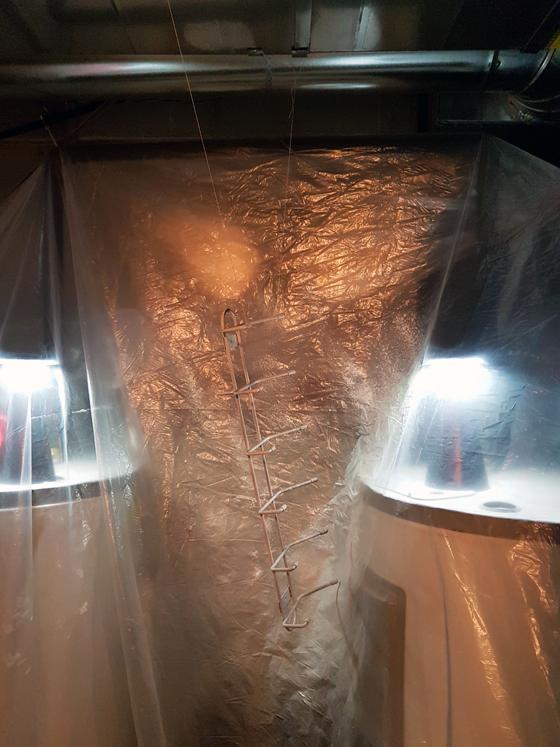 Makeshift spraypaint studio