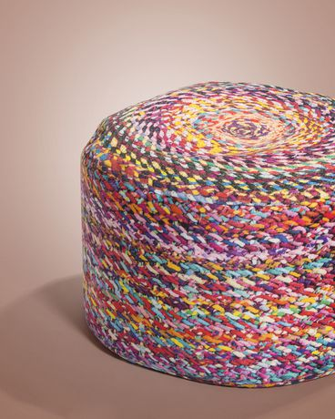 Colourful Knotted Beanbag Ottoman