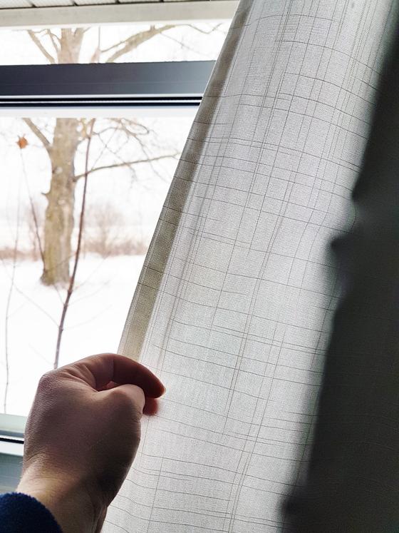 Texture on Ikea Ritva curtains