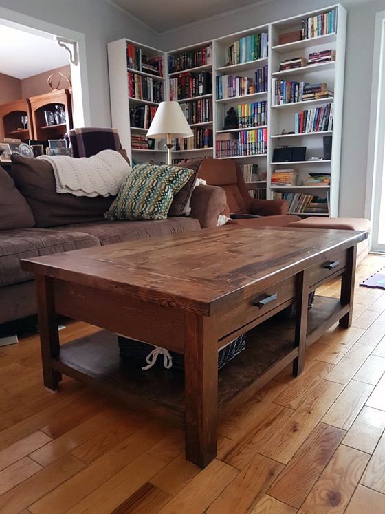 DIY Benchwright Coffee Table