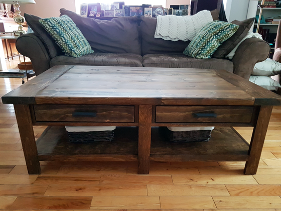 DIY Benchwright Coffee Table