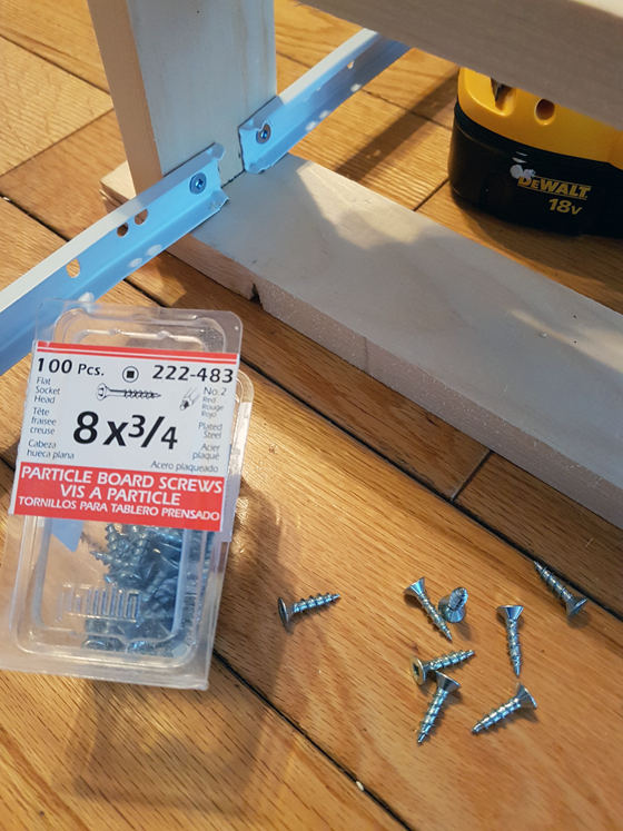 Attaching drawer guides with 3/4 inch screws