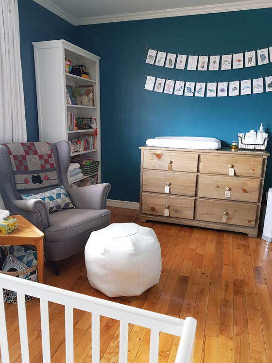 Turquoise gender neutral nursery
