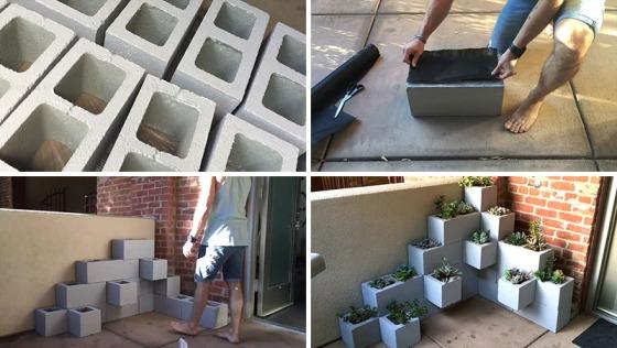 Cinderblock Succulent Planter