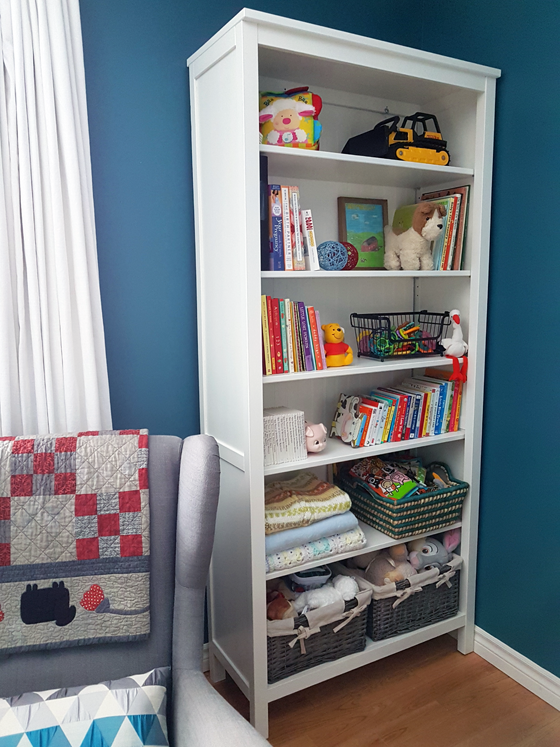 Bookcase in the nursery