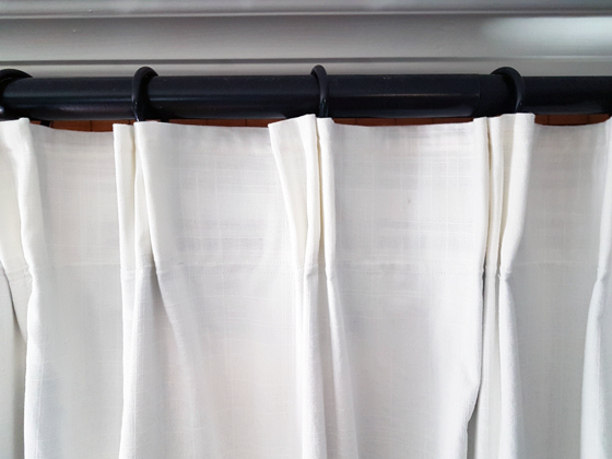 How to pleat Ikea curtains